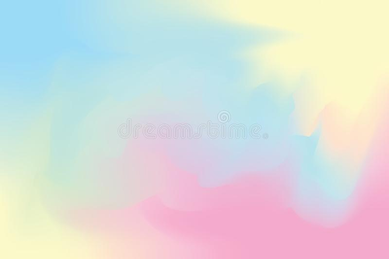 Blue abstract colorful bright color paint brush art background, multi colorful painting art acrylic water color wallpaper pastel vector illustration