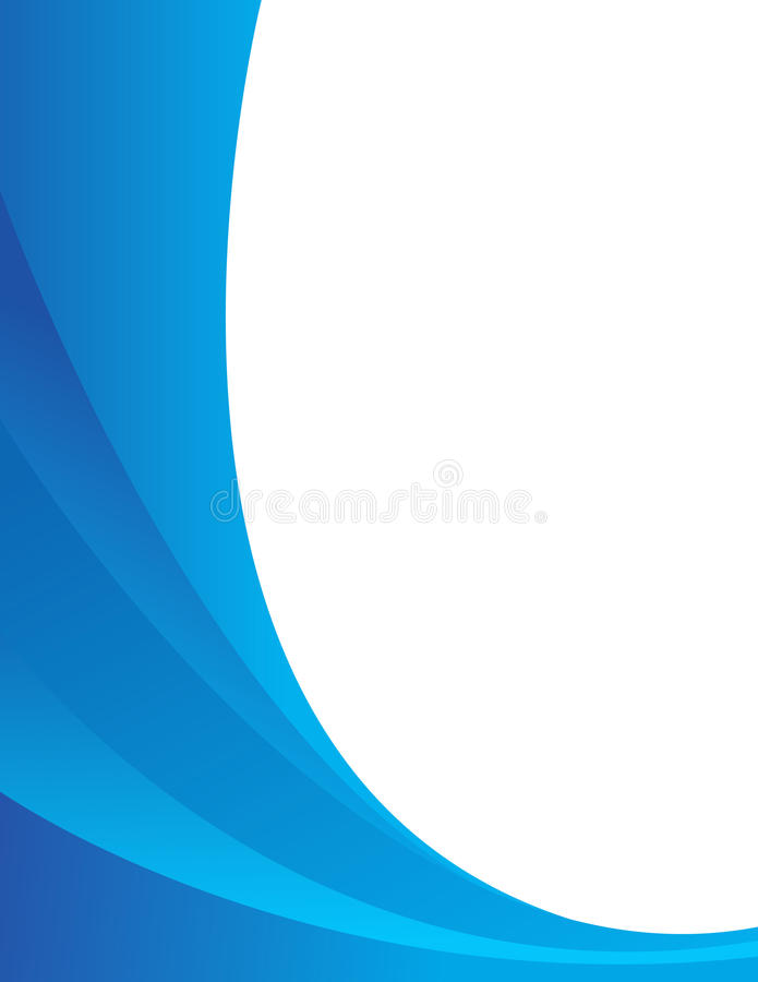 Blue abstract composition. On white stock illustration