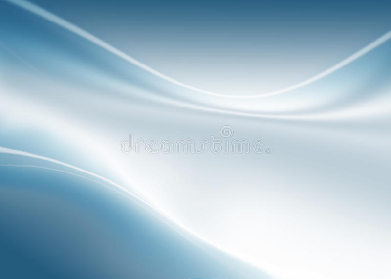 Blue abstract composition. Abstract composition with waves of blue-white gradient background vector illustration