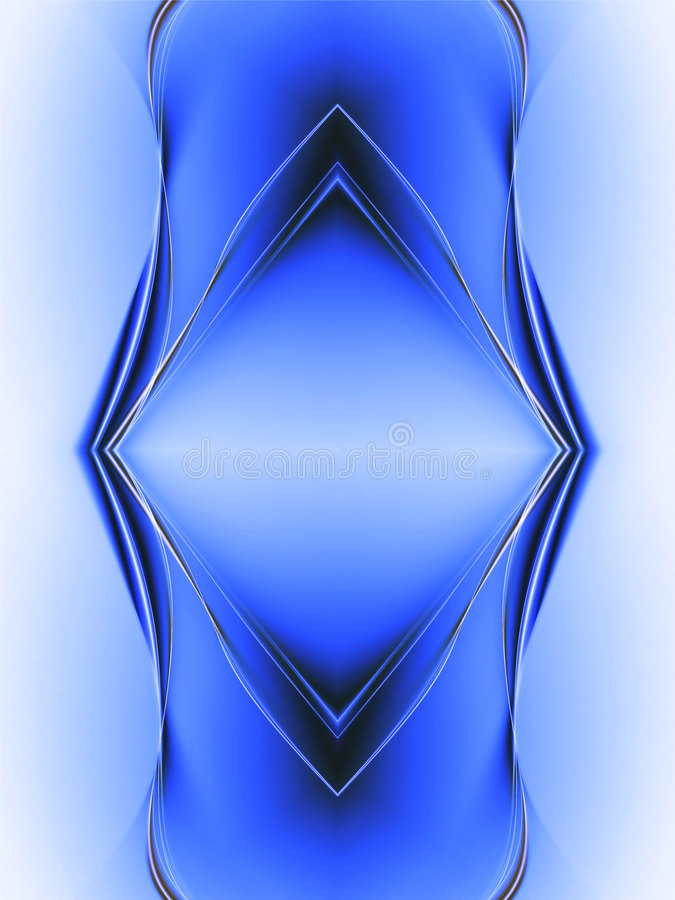 Blue abstract composition royalty free stock photography
