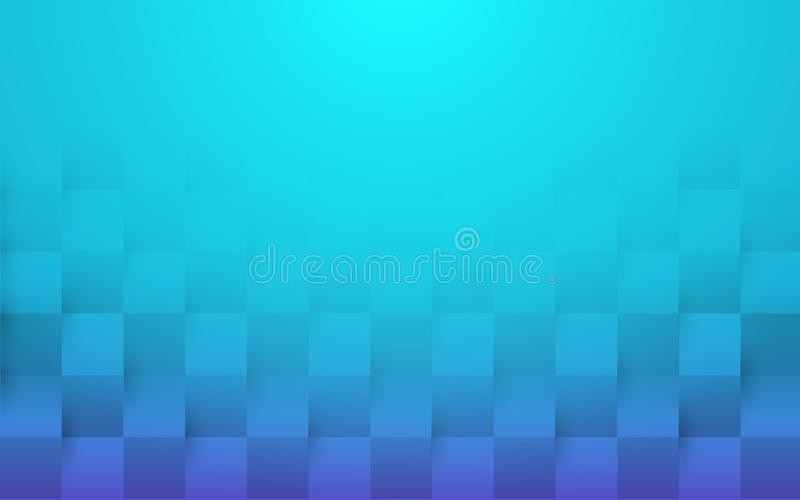 Blue abstract 3d texture background. paper art style royalty free illustration