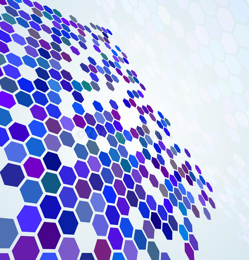 Blue abstract digital background stock illustration