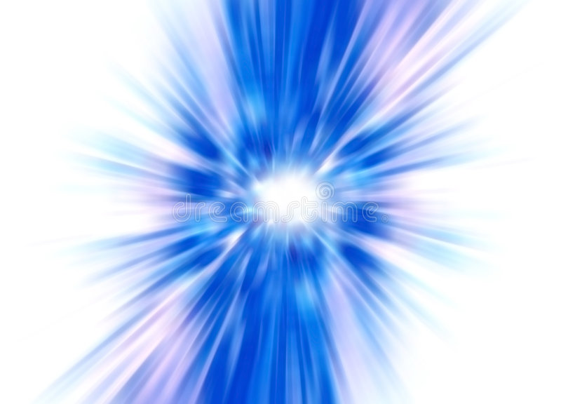 Blue abstract flower. On white royalty free stock photos