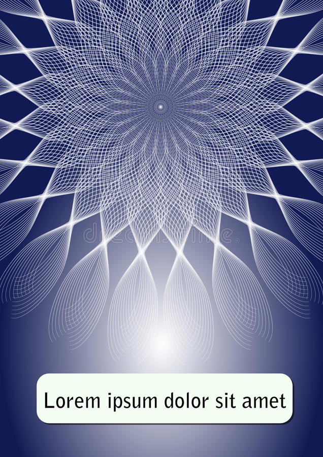 Download Blue Abstract Flyer Template Poster With Star Shape On Dark Background Leaflet