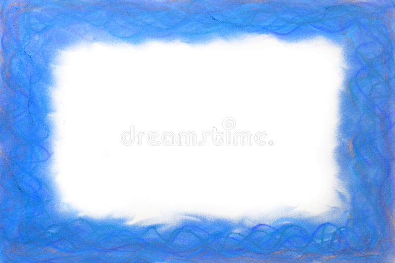 Blue abstract frame royalty free stock photography