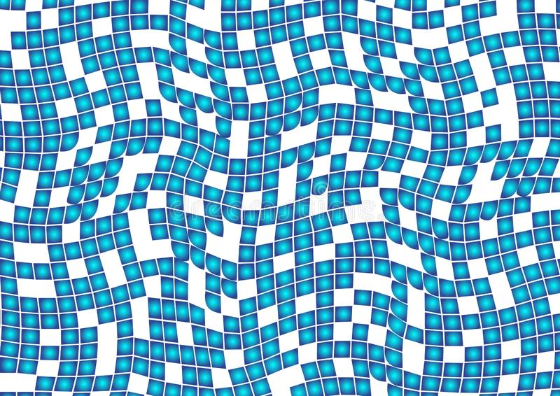 Blue abstract geometric pattern with squares on white background. Vector stock illustration