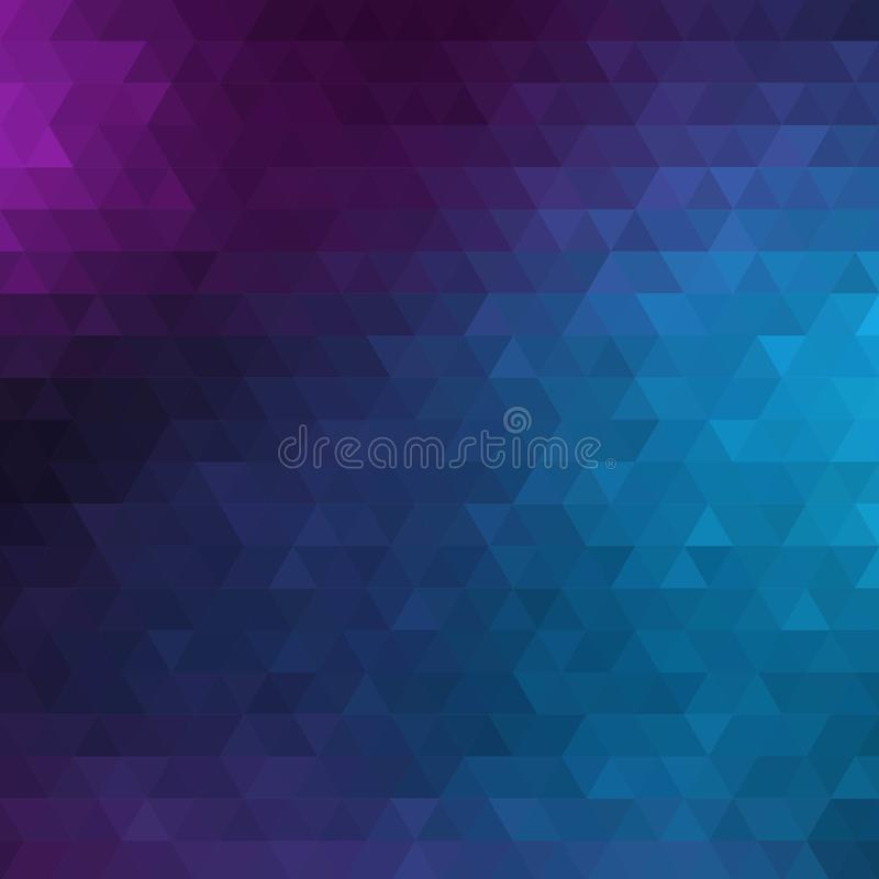 Blue Abstract Geometric Triangle Vertical Background - Vector Illustration Abstract Polygon Vector Pattern - Portrait Orientation royalty free illustration