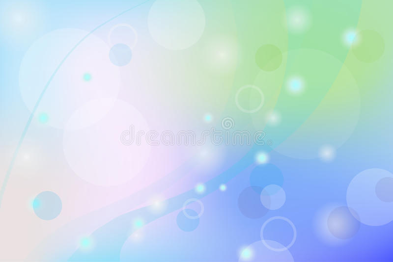 Blue abstract glowing Bokeh backgroun royalty free illustration