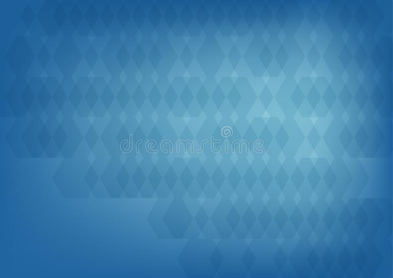 Blue abstract hexagonal geometric background, Geometric pattern,Vector abstract graphic design. stock illustration