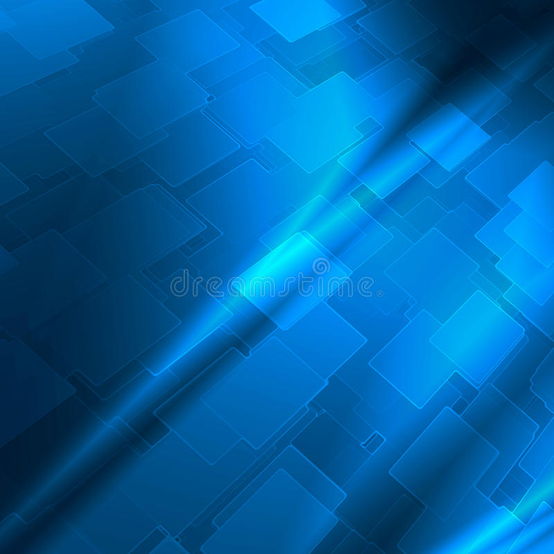 Blue abstract high tech background royalty free illustration