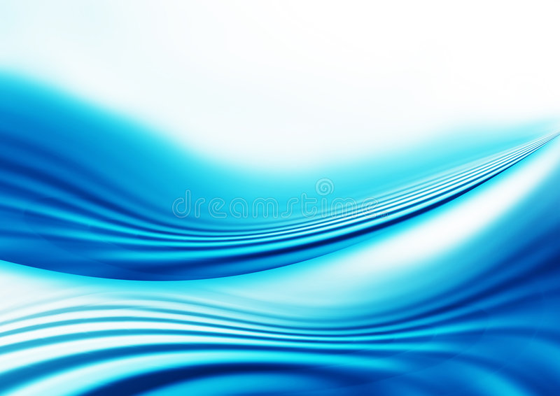 Blue Abstract Lines. Background design with soft flowing blue waves and lines royalty free illustration