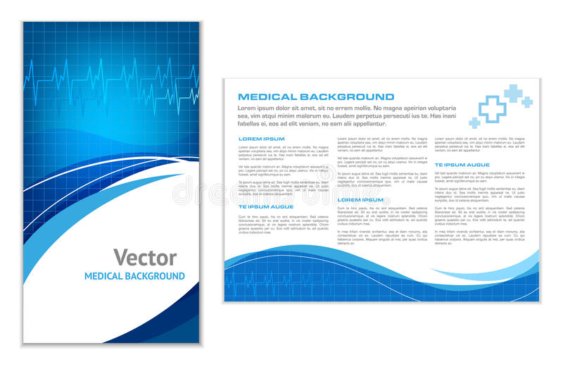 Blue Abstract Medical Background. Abstract Medical Background - Flyer Template royalty free illustration