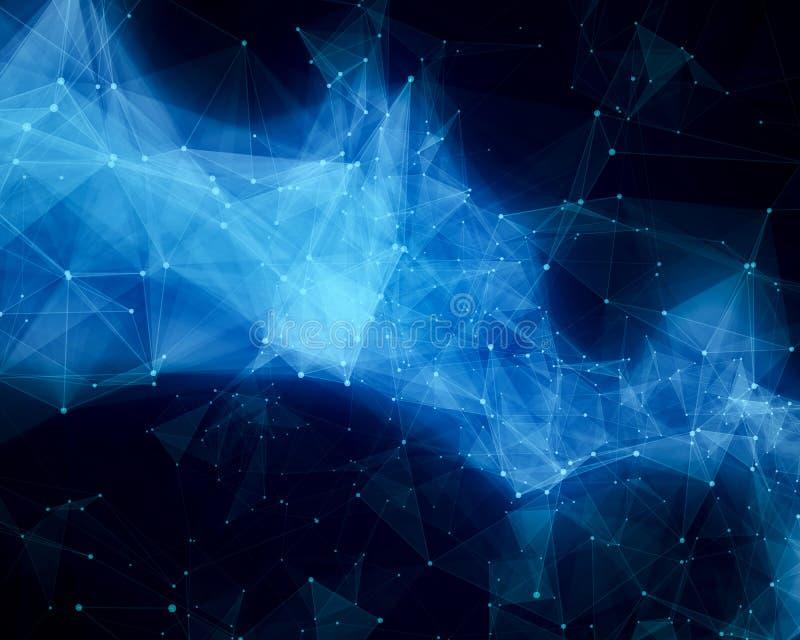Blue abstract nebula vector illustration