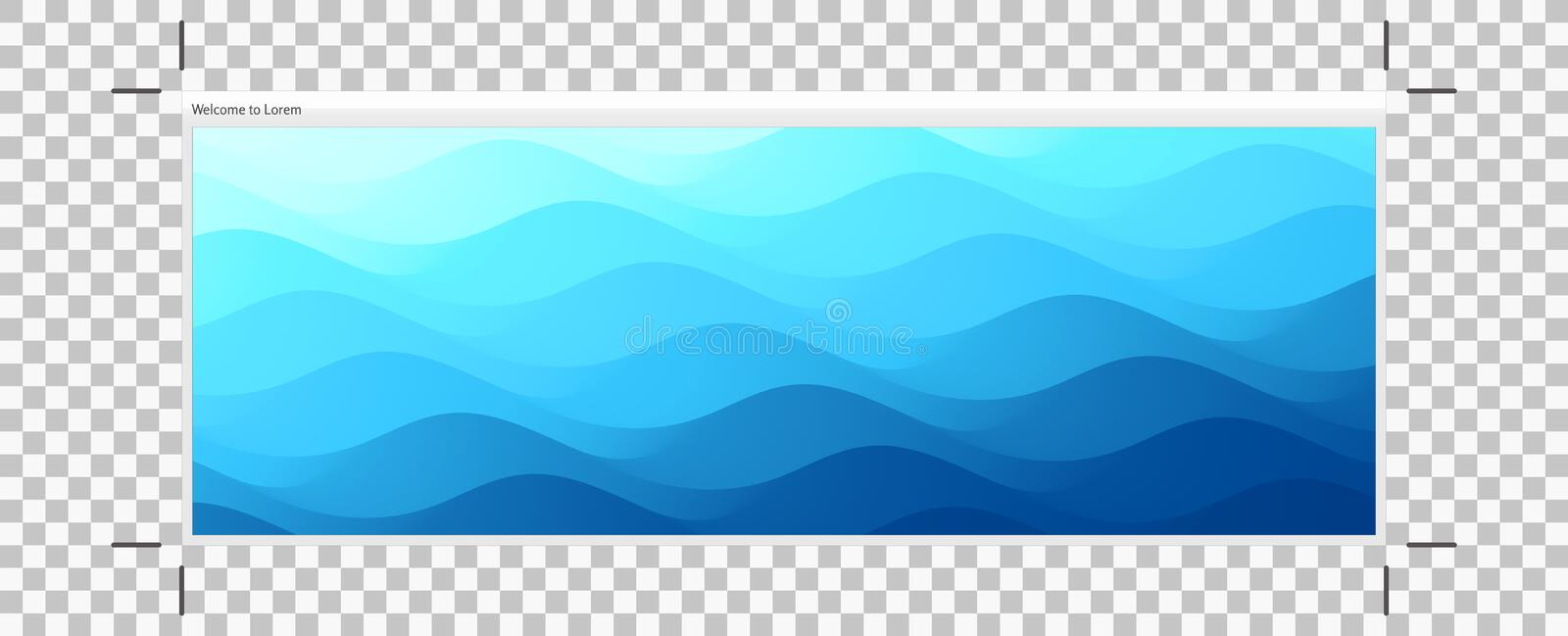 Blue abstract ocean seascape. Sea surface. Water waves. Nature background. Vector illustration for design royalty free illustration