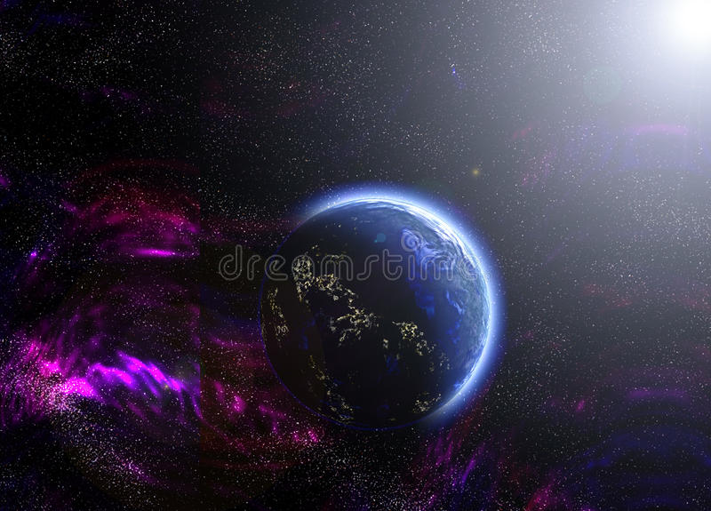 Blue Abstract Planet Stock Photography