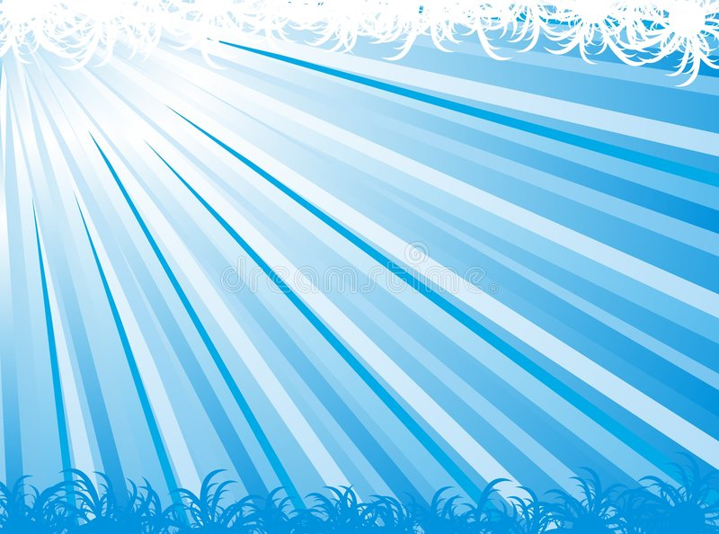 Blue abstract ray vector background. Abstract ray vector for background design stock illustration
