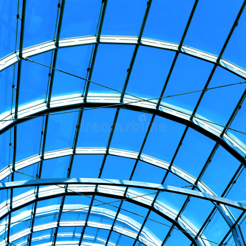 Free Blue Abstract Roof Inside Royalty Free Stock Photos - 18315688