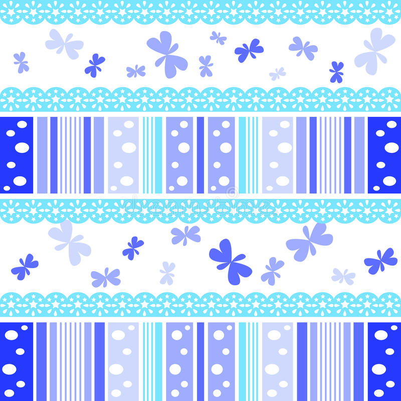 Blue Abstract Stripe Patterns Background Stock Photography