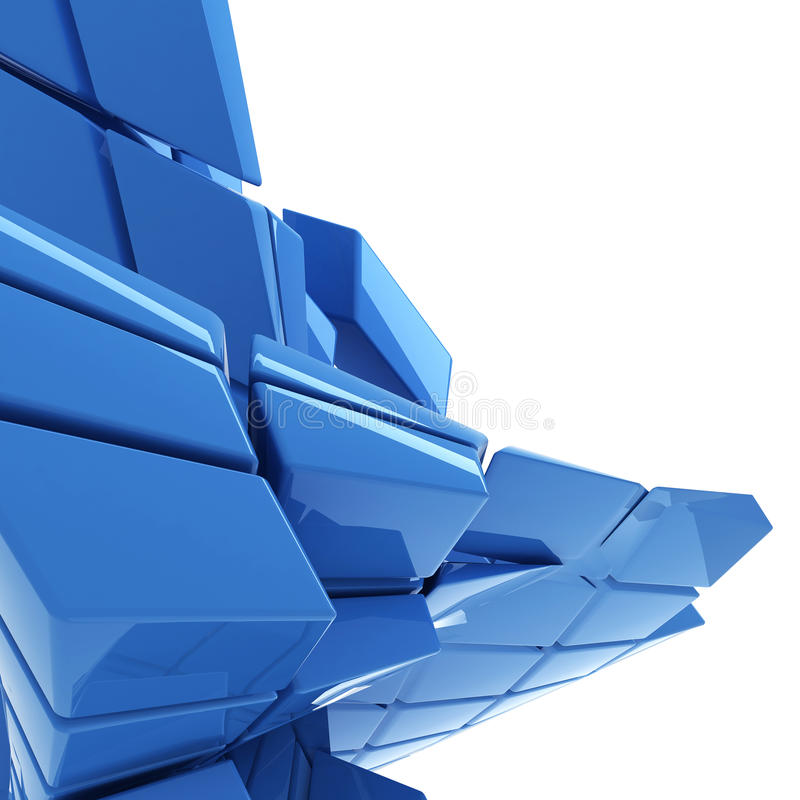 Blue abstract technology background stock illustration