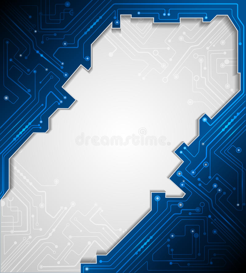 Blue Abstract Technology Circuit Background Stock Vector ...