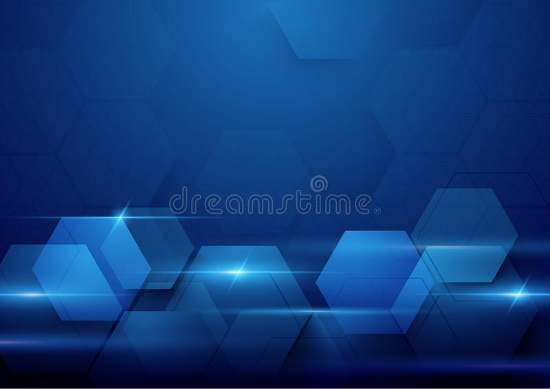 Blue abstract technology digital hi tech concept background stock photo