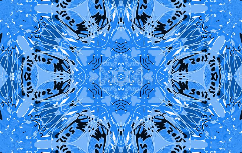 Blue abstract untidy pattern royalty free illustration