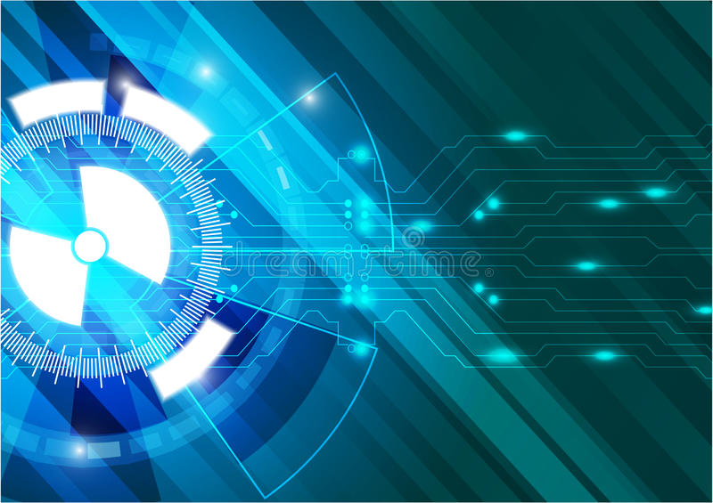 Blue abstract vector future technology background vector illustration