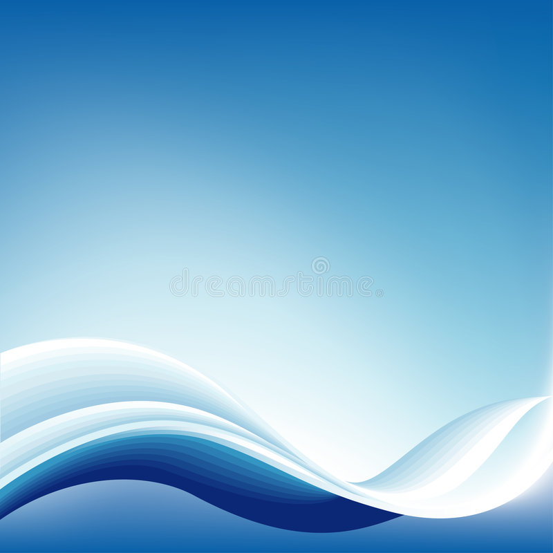 Blue Abstract Wave Background vector illustration