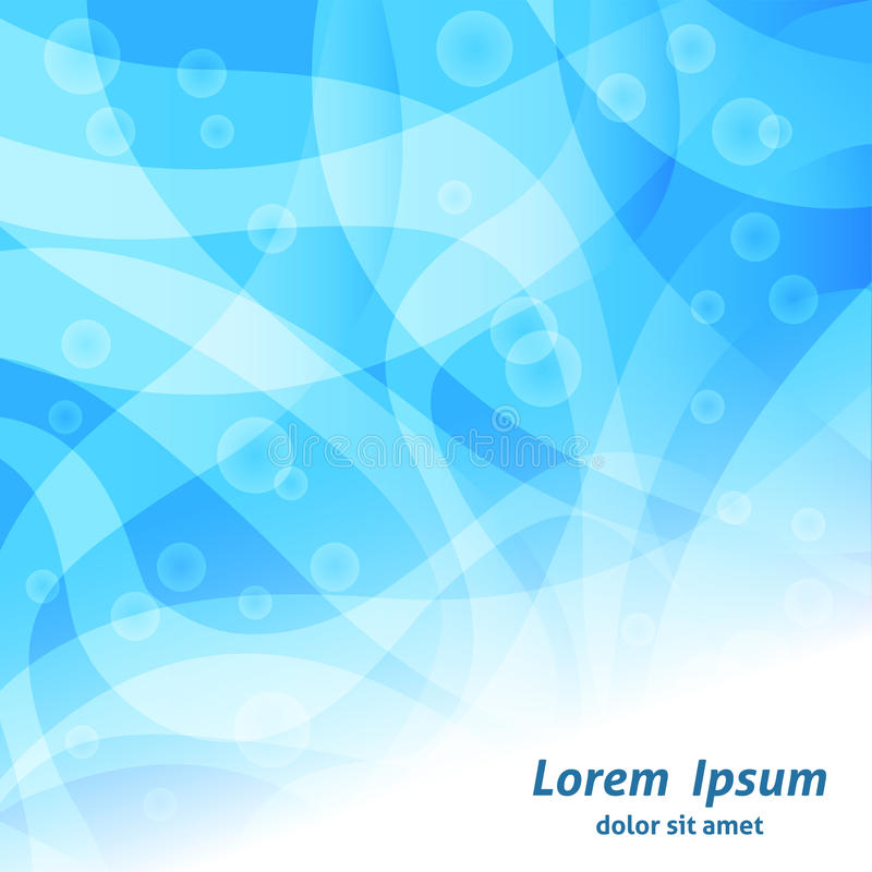 Blue abstract wave background stock illustration