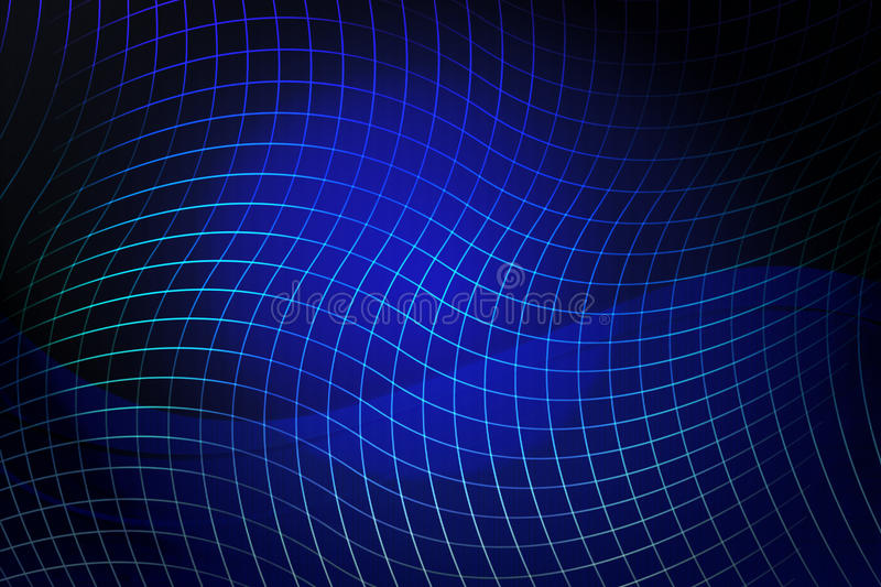 Blue abstract waves on a light background vector illustration