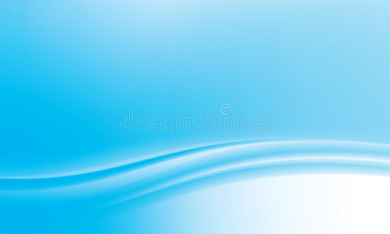 Blue abstract wavy background vector illustration