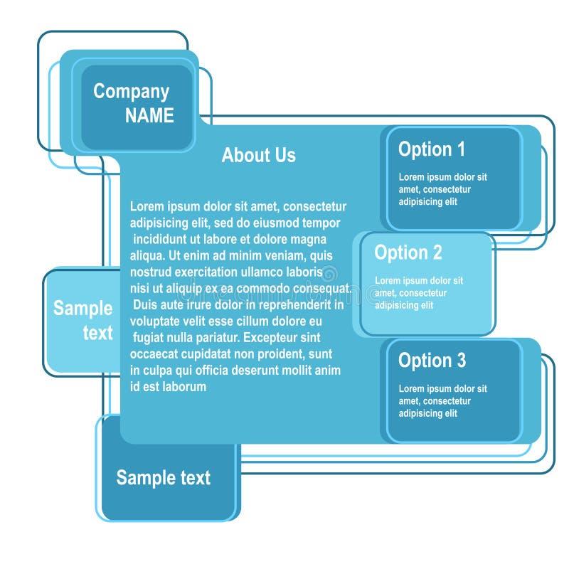 Download Blue abstract web design stock vector. Illustration of menu - 25174214