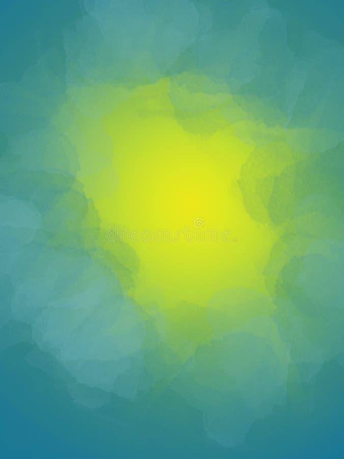 Blue abstraction bright watercolor on a yellow background Texturas para design, sobreposição de fotos, texto imagens de stock
