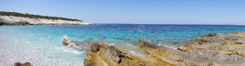 The blue Adriatic Sea royalty free stock photos
