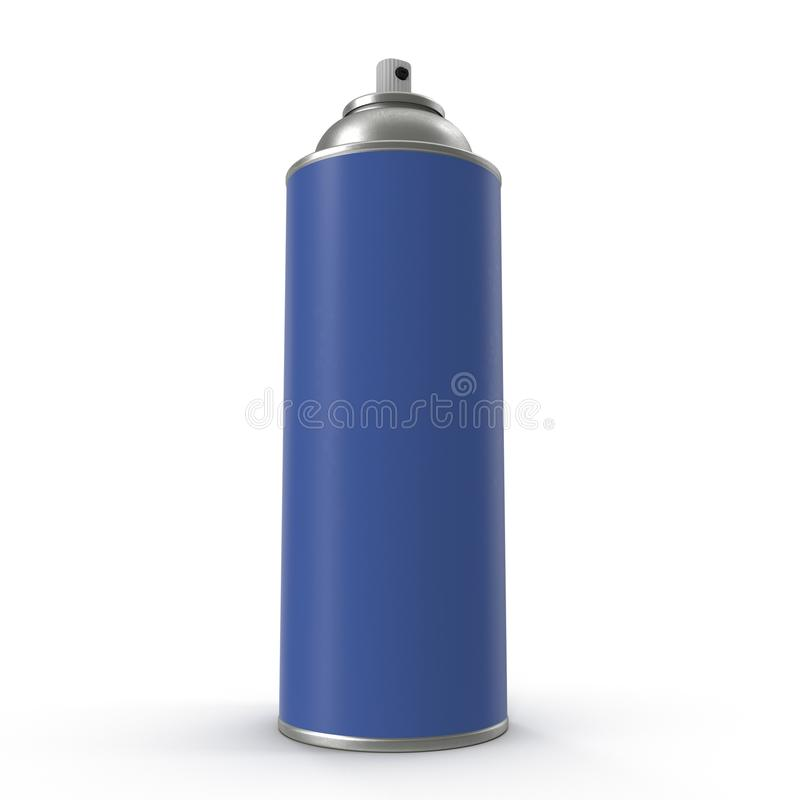 Blue Aerosol Spray Metal Bottle Can. stock illustration
