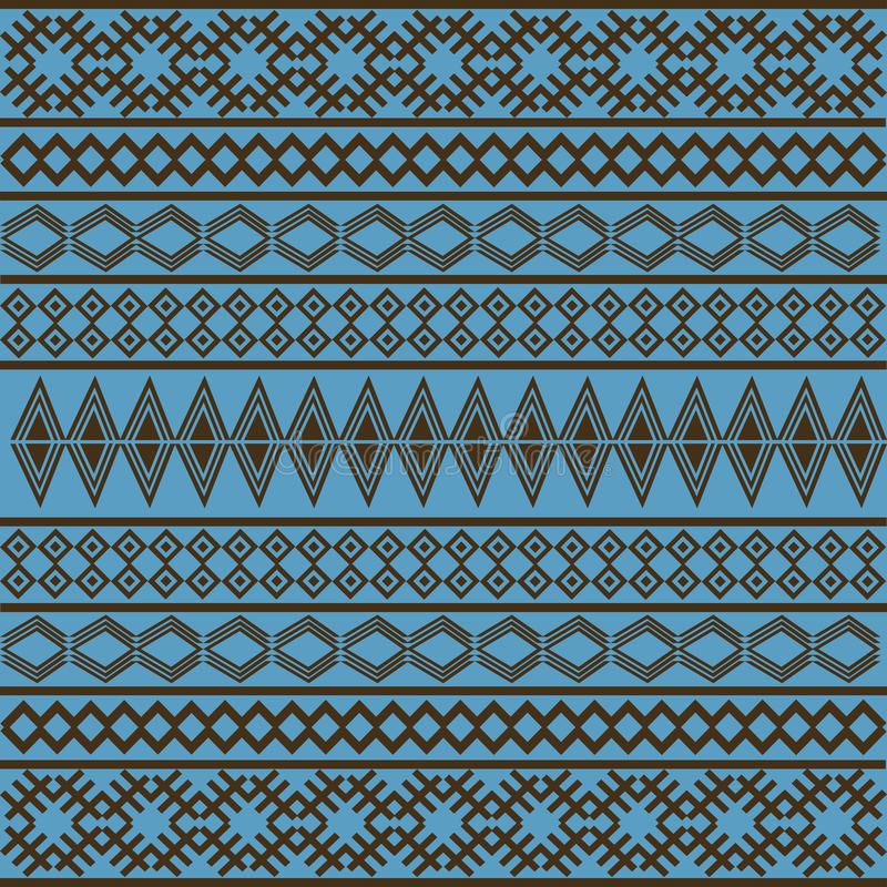Blue African texture royalty free illustration