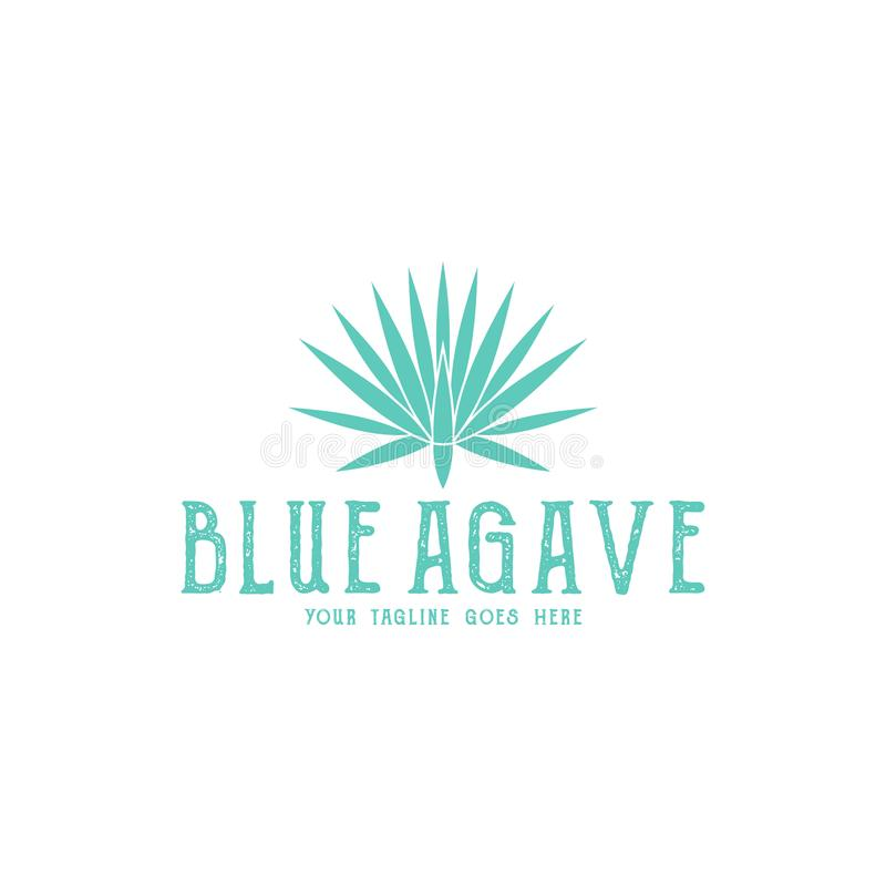 Blue agave. Logo vector illustration