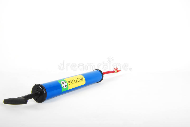 Blue air pump royalty free stock photography