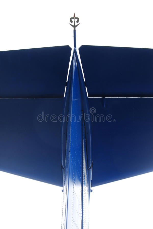 Blue airplane detail royalty free stock images