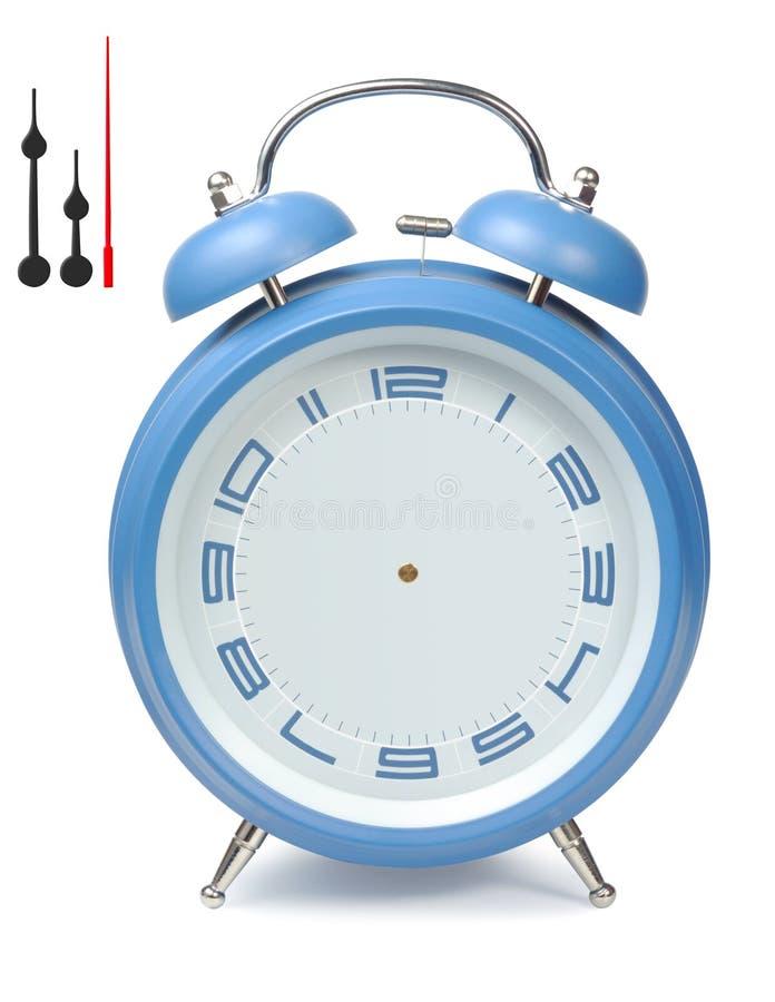 Download Blue Alarm-Clock stock image. Image of close, buzz, path - 13314717