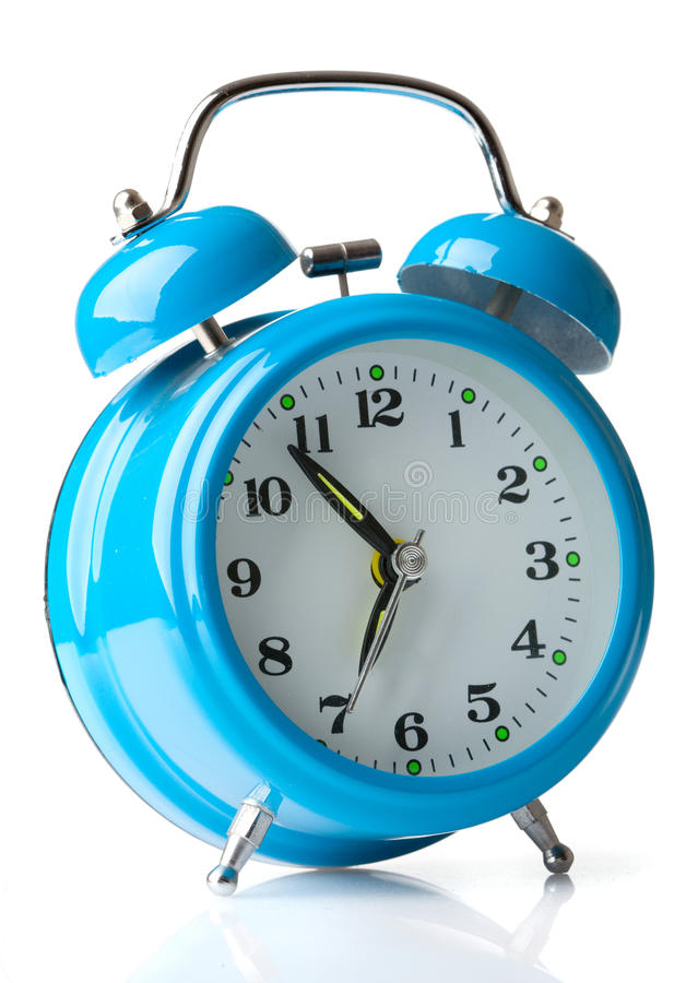Free Blue Alarm Clock Royalty Free Stock Image - 17117626