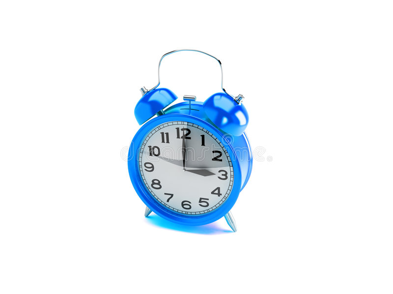 Blue alarm clock vector illustration