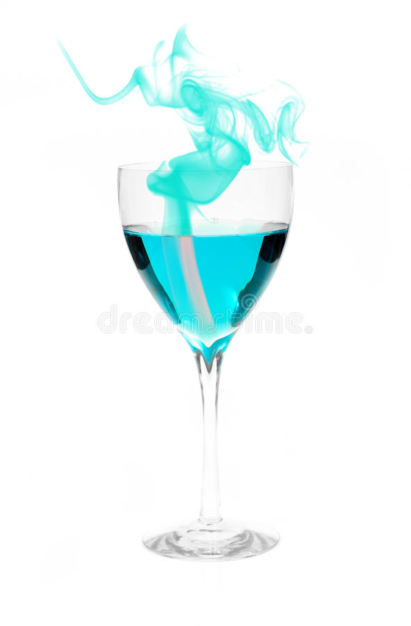 Download Blue Alcohol with Smoke stock image. Image of evaporation - 23317663