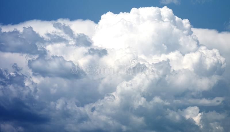 Blue amazing storm clouds royalty free stock photo