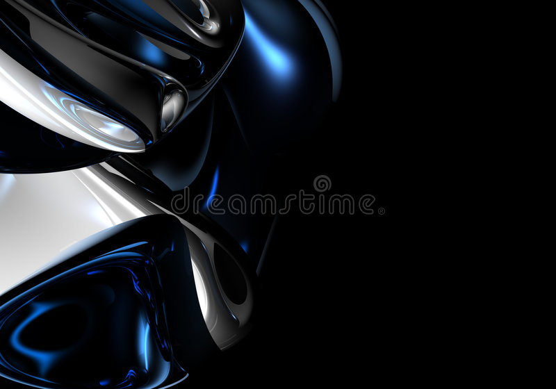 Blue&silver metall in ruimte vector illustratie