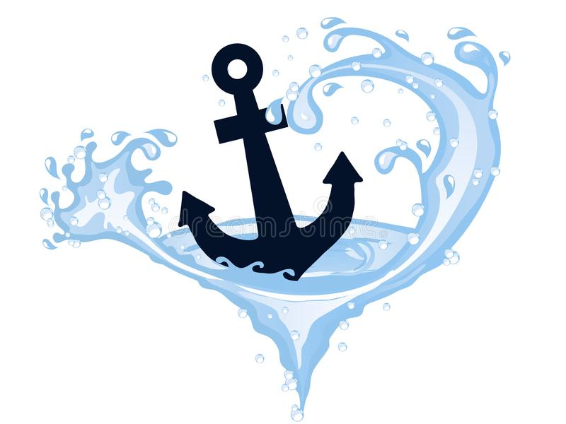 Download Anchor In Whirpool Stock Vector Illustration Of Transparent
