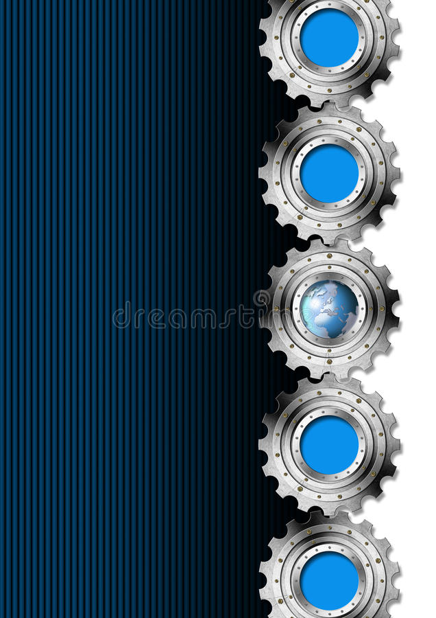 Free Blue And Metal Industrial Gears Background Royalty Free Stock Photo - 30961535