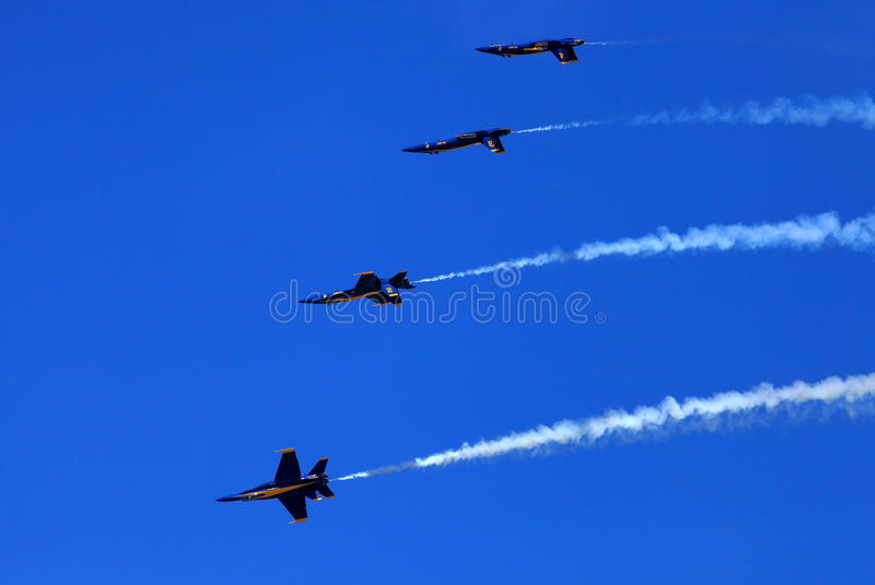 Blue Angel Airshow at Robins AFB stock image