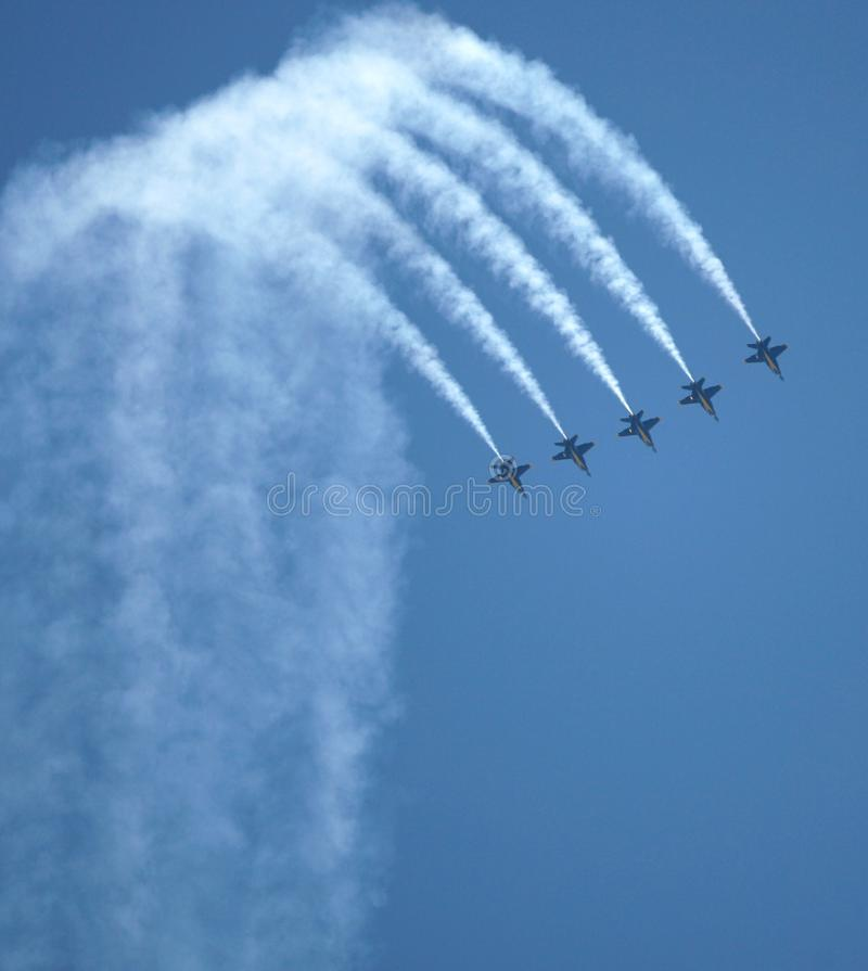 Blue Angels Air Show royalty free stock photo