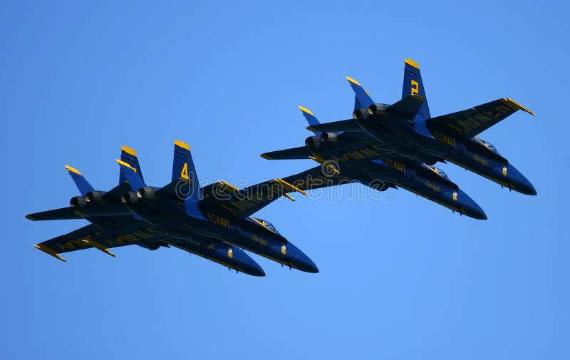 Blue Angels Air Show stock photo